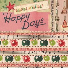 Retro Xmas - Happy Days (85 mm sq)  Please Click the image for more information.