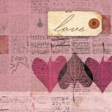 Love, with pink leaves/Love Series 2
