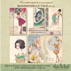 Mademoiselle Tags -12 pack  Please Click the image for more information.