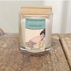 French Pear Soy Wax Candle hand made subtly scented soy wax candle 40 hours burn time 220g in a smart kraft brown box Please Click the image for more information.