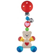 Heimess - Clip On Bear with Heart Keep baby amused with Bear Simply clip him to the pram or car seat and off you go Vivid colours with a little bell to delight ensures he will be a favouriteAl. Please Click the image for more information.