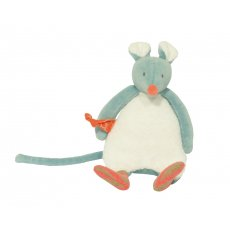 Moulin Roty Biscotte et Pompon Mouse Rattle Soft cuddly rattle doll from Moulin Rotys newest Biscotte  Pompom collection With gentle rattle sound and extremely soft touch this lovely doll is perfect for a babys first doll21cm Rec. Please Click the image for more information.