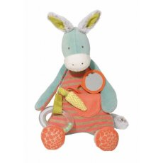 Moulin Roty Brindille Activity Donkey - biscotte et pompon Brindille the activity donkey is part of the Biscotte and Pompon range by Moulin Roty  He is extremely cuddly and loveable with his soft plush fabric fluffy ears squishy tummy and rattley feet  A. Please Click the image for more information.