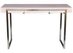 SMALL DESK- WHITE WASHED OAK STAINLESS STEEL LEGSONLY 2 LEFT Please Click the image for more information.
