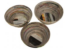 RECYCLED PAPER DECOR BOWLS-LARGE MADE FROM RECYCLED PAPER YET STILL STRONG Please Click the image for more information.