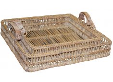 RATTAN TRAY SET/2-WHITE WASHED  Please Click the image for more information.
