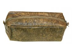 COSMETIC BAG-TAN Leather embossed travel bag Also good as Mens Toiletries bag Please Click the image for more information.