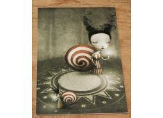 SNAIL GIRL This small card depicts a little french snail girl Gorgeous Please Click the image for more information.