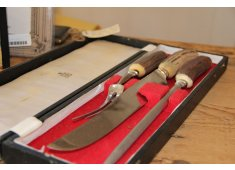 ORIGINAL ANTLER CARVING SET This original Birks English carving set is in mint condition  Contains the carving knife fork and knife sharpenerTh. Please Click the image for more information.