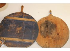 FRENCH CHEESE CURING BOARD These original cheese boards are antique and belonged to French families  They were originally used to cure their cheeses on and many still boast the cheese wax . Please Click the image for more information.