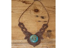 TURQUOISE MACRAME NECKLACE A beautiful turquoise stone set in handmade macrame  Made in Byron Bay Please Click the image for more information.