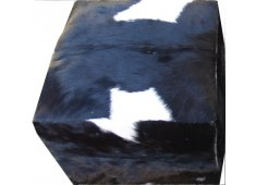 COWHIDE SQUARE OTTOMAN COW HIDE COVERED SQUARE OTTOMAN ONLY BLACK AVAILABLESOLID BLACK  WHITE  BLACK PATCHWORK Please Click the image for more information.