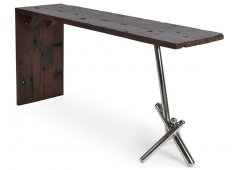 BIRD LEG CONSOLE-SHIPWOOD RECYCLED WOOD MADE FROM OLD SHIP WOOD WITH STAINLESS STEEL LEGS ANY IMPERFECTIONS ARE PART OF THE CHARACTER OF THIS ITEM  NOT FAULTS Please Click the image for more information.