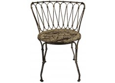 CRACKLE FINISH IRON DINING CHAIR FRENCH DESIGN Please Click the image for more information.