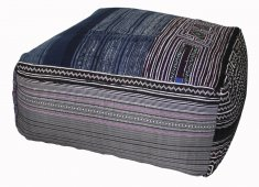 PATCHWORK HILLTRIBE OTTOMAN-BLUE COLOURS VARY HANDMADE  DYED COTTON WITH LIGHTWEIGHT BEAN FILLER Please Click the image for more information.