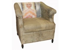 ARMCHAIR WITH PAINTED PICTURE  Please Click the image for more information.