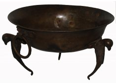 BRASS BOWL ON STAND OLD INDIAN METAL BOWLS Please Click the image for more information.