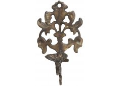 BRASS CANDLE HOLDER WALL SCONCE OLD METAL Please Click the image for more information.