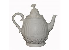ORNATE TEAPOT OLD WORLD CHARM WITH A CROOKED TIP Please Click the image for more information.