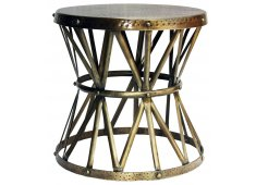 IRON SIDE TABLE/STOOL-BRONZE  Please Click the image for more information.