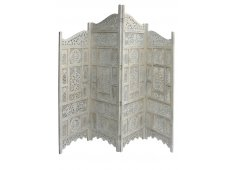 WOODEN FOUR PANEL SCREEN-WHITE BEAUTIFUL  Please Click the image for more information.