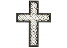 MOTHER OF PEARL INLAID CROSS INLAID WITH FLOWER SHAPES Please Click the image for more information.