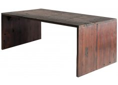 SHIPWOOD DESK-DARK OAK RECYCLED WOOD MADE FROM OLD SHIP WOOD ANY IMPERFECTIONS ARE PART OF THE CHARACTER OF THIS ITEM  NOT FAULTS Please Click the image for more information.
