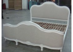 FRENCH BED-KING COMING SOONDISTRESSED WHITE FINISH FRENCH STYLE Please Click the image for more information.