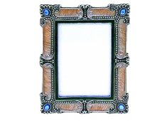 ENAMEL & RHINESTONE FRAME ART DECO LOOK Please Click the image for more information.