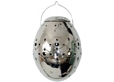 HANGING SILVER CANDLE HOLDER-LARGE PERFECT TO HANG IN TREES AT PARTIES FOR GREAT AMBIANCE Please Click the image for more information.