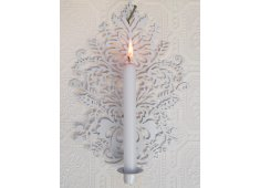 WALL SCONCE CANDLE HOLDER- WHITE Painted white metal wall sconce Candle holer Please Click the image for more information.
