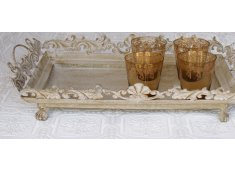 ANTIQUE LOOK METAL TRAY Pretty antique looking metal tray Please Click the image for more information.
