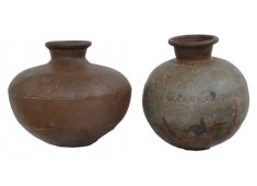 OLD IRON POTS-ASSORTED SIZES THESE BOLBOUS IRON POTS VARY FROM PIECE TO PIECE THEY HAVE AN AGED APPEAL Please Click the image for more information.