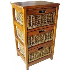 Tropicana 3 DWR Cane Basket Cabinet Stunning storage solutions that will add a tropical touch to any room The Tropicana Cabinet is beautiful with its Mango Wood timber and 3 smooth sanded cane basket drawer A. Please Click the image for more information.