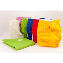 eco Cloth Nappies Starter Pack Starter pack includes 5 cloth nappies 10 high absorbent inserts1 cloth nappy bag and 1 roll of  bamboo flushable nappy liner b. Please Click the image for more information.
