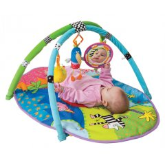 Taf Toys Safari Baby Play Gym Mat and Toys Beautiful and interactive colorful padded matGym is lightweight and easy to take along from one place to anotherWith its specially made extra soft fabric in mats center your baby can rest its soft developing headInclu. Please Click the image for more information.