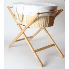 Born With Style Mosess Basket With Stand  bPackage Deal Mosses Basket and Stand With Free ShippingbThis welcome addition to any home features a soft waffle cotton lining giving babies a restful sleep The outside. Please Click the image for more information.