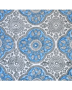 Mahal - Sky Blue Mahal is a classic Indian block print pattern that continues to delightThis hand block print fabric is printed on soft lightweight voile that is perfect for use as a dressmaking fabric It wo. Please Click the image for more information.