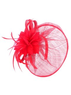 HA0186 FASCINATOR  AVAILABLE IN BLACK RED OR PURPLE Please Click the image for more information.