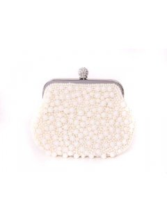 H0479A GIGI EVENING BAGS  PEARL PURSE AVAILABLE IN BLACK OR CREAM Please Click the image for more information.