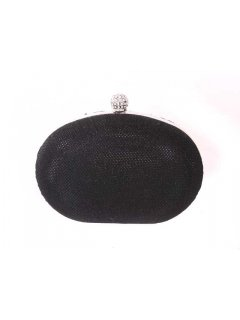 H0481 GIGI EVENING BAG  SHIMMERY OYSTER CLUTCH  BLACK GREY OR BRONZE Please Click the image for more information.