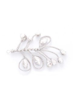W0178 Crystal Hair Piece  can be worn as just a hair clip or have a veil attached for a wedding  Please Click the image for more information.