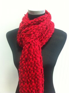 S132 WINTER KNIT SCARVES AVAILABLE IN RED FUSCIA PINK ORANGE OR YELLOW Please Click the image for more information.