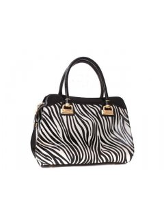 H0513 ZEBRA LEATHER HANDBAG Please Click the image for more information.