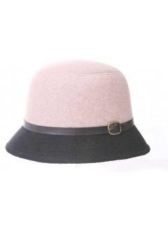 HA0199A WINTER FELT HAT AVAILABLE IN BEIGE RED OR ORANGE WITH BLACK RIM AND BELT TRIM Please Click the image for more information.