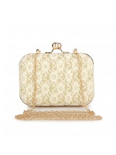 H0615A CREAM LACE EVENING BAG Please Click the image for more information.