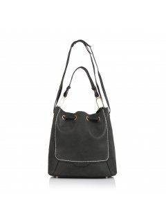 H0613 BLACK FAUX SEUDE SLING BAG Please Click the image for more information.