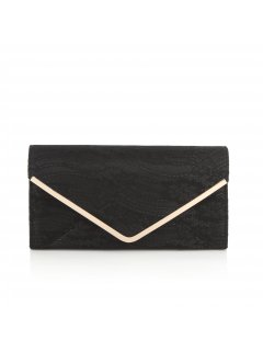 H0601 BLACK  BEIGE LACE OVERSIZED CLUTCH Please Click the image for more information.