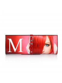 H0599B RED M MAGAZINE EVENING BAG Please Click the image for more information.