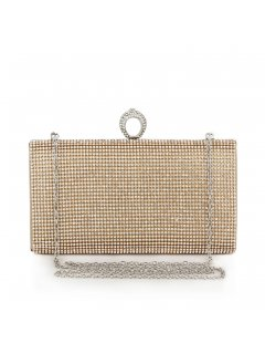 H0592A GOLD DIAMONTE CLUTCH WITH RING CLASP Please Click the image for more information.